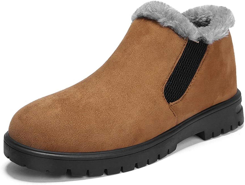 JIALUN-Schuhe Herren stilvolle Schneeschuhe warme Schuhe Casual Wrap seitlichem Reiverschluss Winter Faux Fleece innerhalb Familie Schuhe (Farbe   Gelb, Gre   44 EU)