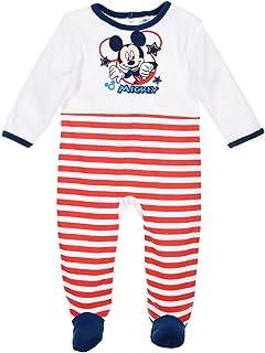 a819ca105fb30 Pyjama velours rayé bébé garçon Mickey Marine et Rouge de 3 à 23mois (23  mois