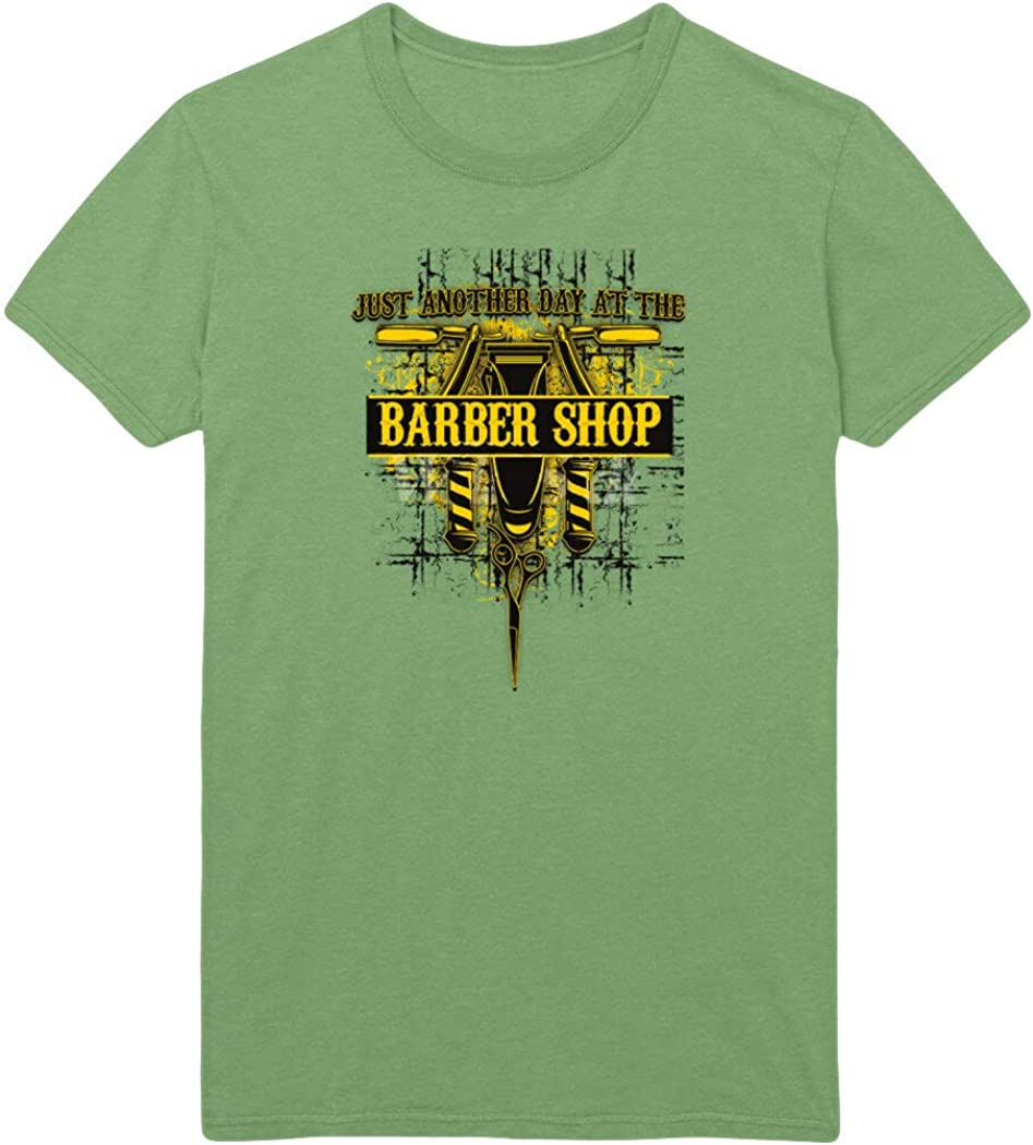 Just Another Day at The Barber Shop Printed T-Shirt