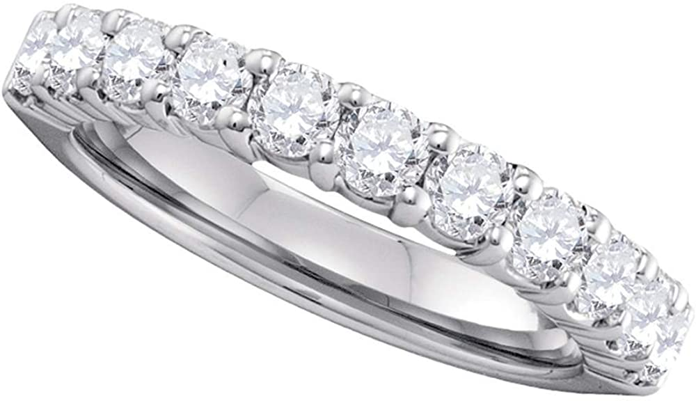Jewels By New color Lux 14kt White Gold Round Womens Wedd Colorado Springs Mall Diamond Pave-Set