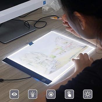 Delleu A4 LED Copy Station Drawing Copy Tracing Caja de luz USB ...