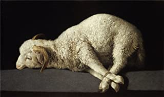 Oil Painting 'Zurbar Agnus Dei (The Lamb Of God) 1635 40', 18 x 30 inch / 46 x 77 cm , on High Definition HD canvas prints is for Gifts And Dining Room, Foyer And Hallway Decoration, HD