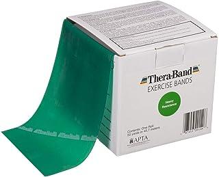 TheraBand セラバンド トレーニングチューブ バンドタイプ 徳用サイズ 長さ45.7m タン イエロー レッド グリーン ブルー ブラック シルバー ゴールド (グリーン(強度:+1))