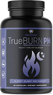 TrueBURN-PM Night Time Fat Burner for Women & Men - Sleep Aid, Appetite Suppressant, Metabolism Booster with Valerian Root...