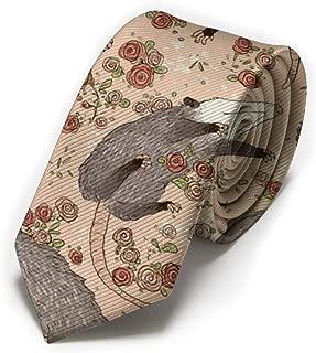 Mens Novelty Polyester Silk Neckties Befuddled Possums Printed Pattern Skinny Tie Necktie,Great for Weddings, Groom, Groomsmen, Missions, Dances, Gifts