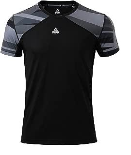 PEAK Men's Quick Dry Short Sleeve T-Shirt for Fitness,  Running,  Basketball,  Sports
