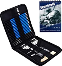 35pcs Sketching Drawing Pencils Set with 50 Sketch Paper and Charcoal Graphite Pencil Erasers Kits Accessorie for Beginner...
