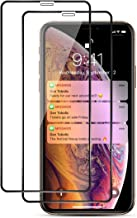 Ispider Screen Protector Tempered Glass for iPhone Xs Max/iPhone 11 Pro Max [2-Pack] (Edge to Edge Coverage Full Protection), 3D Premium Film, HD Clarity, Anti-Fingerprint, Anti-Scratch, Bubble Free