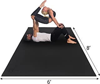 Gxmmat Large Yoga Mat 6'x8'x7mm Extra Thick, Ultra Comfortable, Non-Toxic, Non-Slip, Barefoot Exercise Mat -Pilates, Stretching, Workout Mats for Home Gym Flooring (6'x8' Yoga mat Without Shoes)