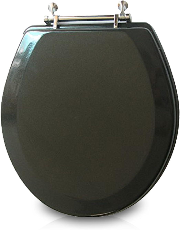 Trimmer Premium Metallic Black Wood Easy-to-use Sale item Toilet Seat.