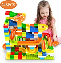 Temi 248 PCS Marble Run Deluxe Sets for Kids, Marble Race Track for 3+ Year Old Boys and Girls,...