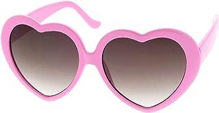 Women's Oversize Gradient Lens Heart Sunglasses 55mm