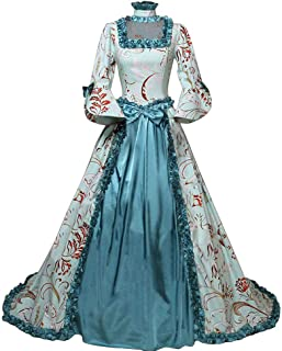 Women's Marie Antoinette Masked Ball Victorian Dress 18th Century Medieval Civil War Ball Gown Southern Belle Costume
