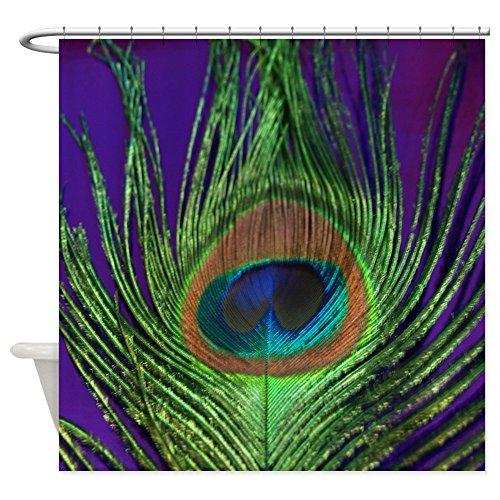 """CafePress Purple Foil Peacock Decorative Fabric Shower Curtain (69""""x70"""")"""