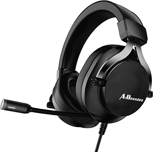 Xbox One Gaming Headset for PS4,PC,LED Light On Ear Headphone with Mic for Mac,Laptop,Nintendo Switch Games (Black)