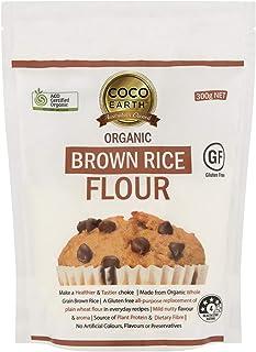 COCO EARTH Certified Organic Brown Rice Flour 300g | Gluten Free, 300 g