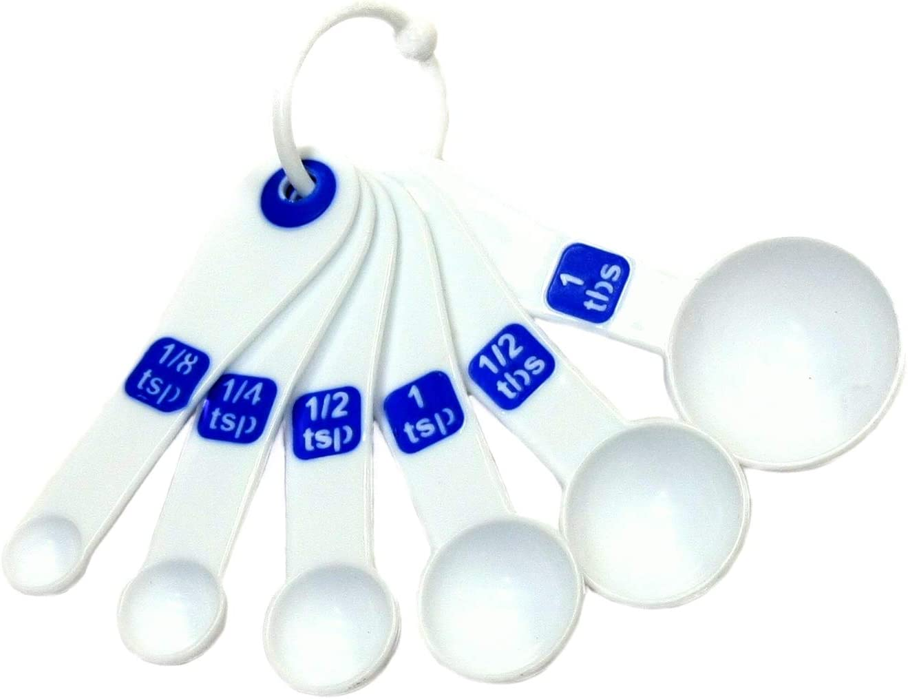 Chef Craft Max 60% OFF Select Plastic 6 Piece Spoon Measuring tsp 1 Set 8 Ranking TOP20