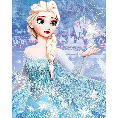 DIY 5D Diamond Painting, Square Rhinestone Full Diamond Painting, Home Wall Decoration Gifts and Crafts Frozen 15.7x19.6 inch
