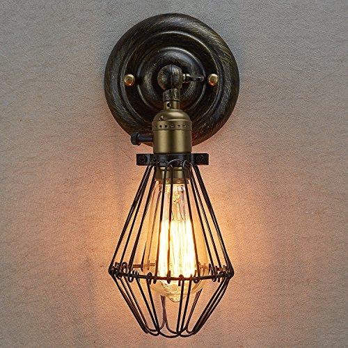 mmgg Metal Edison vintage stil öppna och stänga industriell vägglampa ljus pris rustik trådlös bur lampa trädgård vägglampa lampa armatur lampor utan ljuskälla