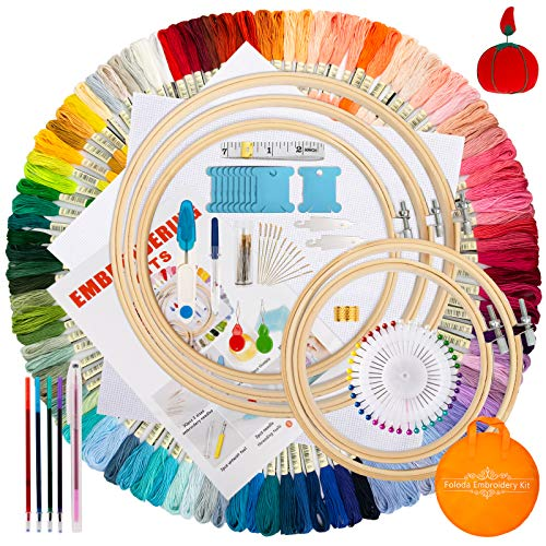Embroidery Starter Kit,100 Color Th…
