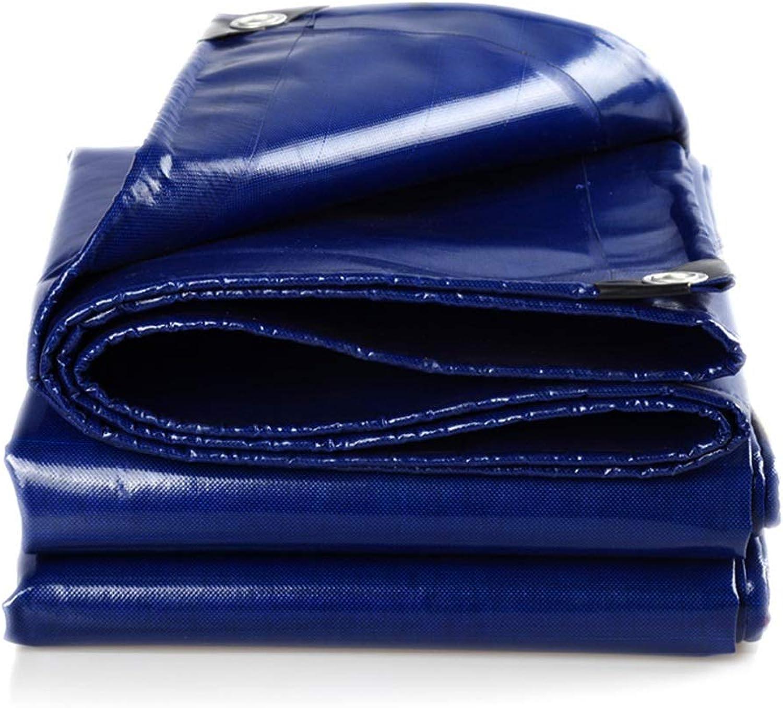 YANQ Schwere Wasserdichte Plane Wasserdichte Plane aus aus aus Plastikplanenschutzblech für Bauunternehmer, Camper, Maler, Landwirte, Stiefele, Motorräder (Farbe   Blau, größe   400  800cm) B07PM3ZND7  Saisonale Förderung 582f90