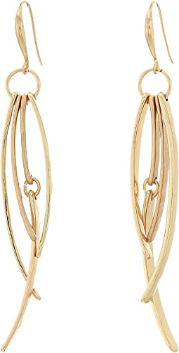 Robert Lee Morris - Gold Multi Stick Linear Earrings