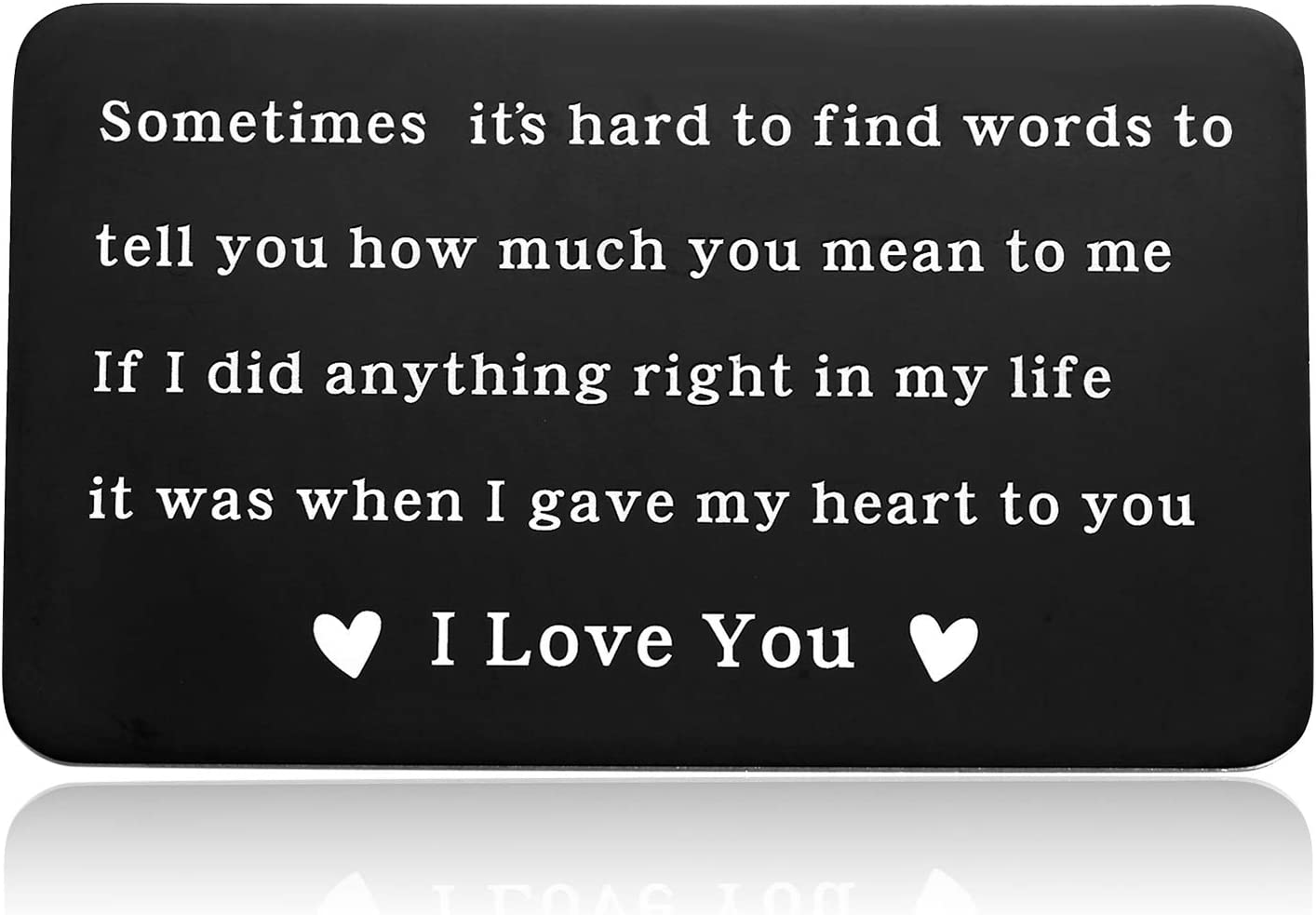 Sentimental Gifts for Boyfriend, Engraved Wallet Insert Card for Men Gift, Sweet Love Note for Husband from Wife-If I Did Anything Right in My Life It Was When I Gave My Heart to You, If I Did Anything Right Gift Cards, If I Did Anything Right Gift Cards