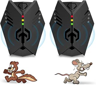 Advanced Ultrasonic Rodent Repelling System | Superior Rodent Repeller, 2020 Upgraded Electronic Ultrasonic Squirrel Repellent Plug in, Repel Rodents, Mice, Rats, Squirrels(2 Packs).