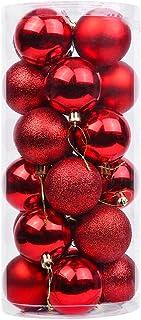 DegGod 24 Pcs 60mm/2.36inches Christmas Balls Baubles Ornaments, Shatterproof Shiny Matte Glittering Christmas Tree Hangin...