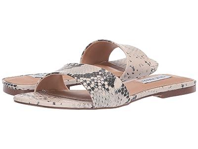 Steve Madden Bev Flat Sandal (Natural Snake) Women