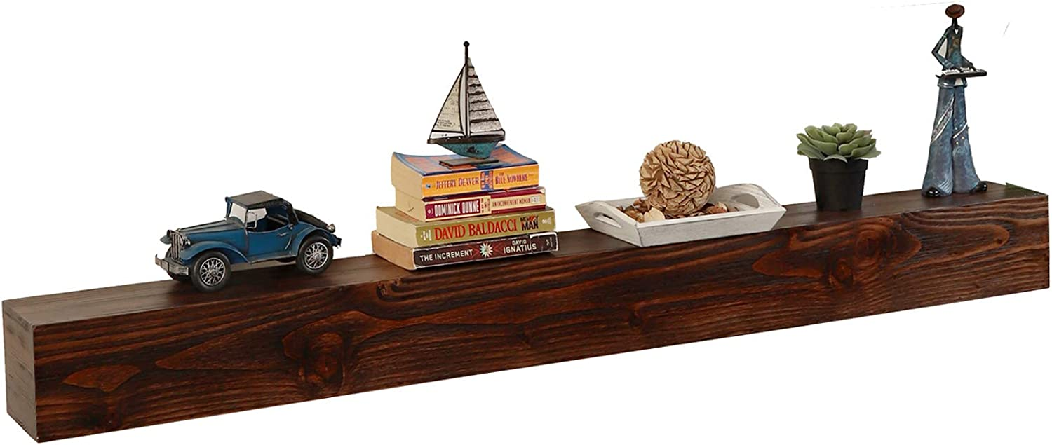 WELLAND 60 - It is very popular Inch Fireplace Fort Worth Mall Mantel Floating Wal Real Shelf Wood