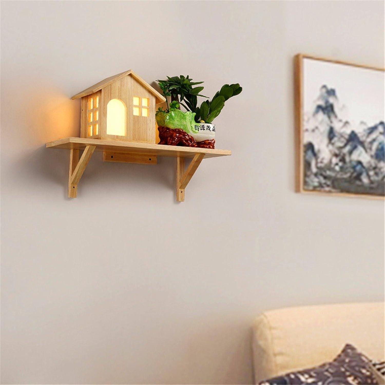 Firsthgus E27 Garten Wandleuchte Schlafzimmer Wohnzimmer Dekoration Wandleuchte Massivholz Led Kinderzimmer Lampe