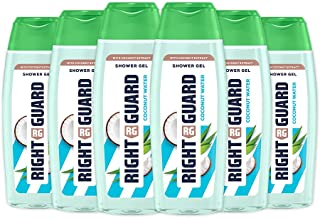 Right Guard Women Shower Gel Body Wash with Coconut Extract, Multipack 6 x 250 ml