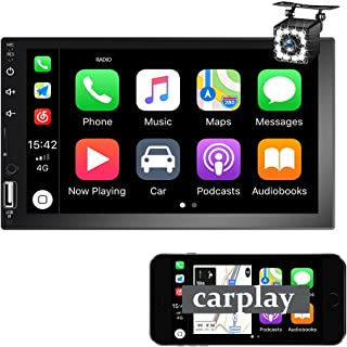 $86 » Apple Carplay Car Stereo Double Din 7''Touch Screen Car Radio, Support Android Auto Voice Control Mirror Link for Android...