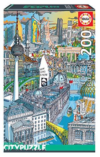 Educa Borras - Serie Citypuzzle, Puzzle 200 piezas, Berlín (18469)