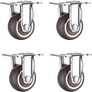 Rollende Bureaustoel Wiel Castor Wielvervanging,Diameter 28mm/31mm/38mm/50mm 4 per Pack Zachte Rubber Casters Bescherm Har...