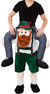 Oktoberfest Beer Guy Carry Mascot Costume Ride On Me Halloween Christmas Party Dress