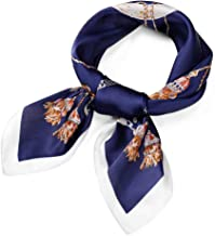 Satin Silk Scarves for Women and Girls, Premium Summer Square Neck Scarf, Ladies Head Hair Scarf and Wraps