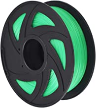 3D Printer Filament - 1KG (2.20 lbs) The Diameter of 1.75mm, Dimensional Accuracy PLA Multiple Color, Transparent Green