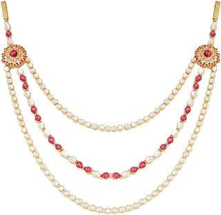 I Jewels Traditional Gold Plated Kundan & Stone Studded Kamarband/Kandora for Women B011