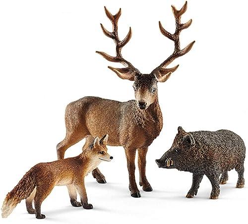 Yousheng Modèle Jouets Enfants Jouets Animaux Simulation Modèle Animal Modèle - Forest Wildlife Set (Taille   1)