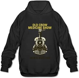 HUBA Men's Hoodie Old Crow Medicine Show 3 Black
