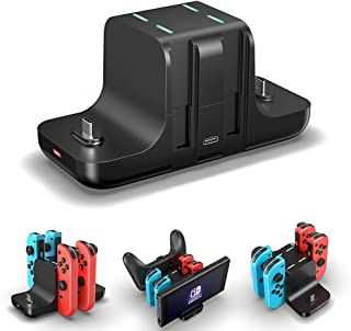 Controller Charger Dock for Nintendo Switch,6 in 1 Charging Station for Nintendo Switch Joy-Con Controllers and Pro Contro...