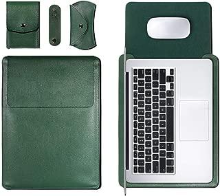 Men Backpack Bag Applicable Apple Notebook MacBook Notebook Universal Sleeve PU Common Waterproof Liner Bag Computer Bag School Backpack (Color : Green, Size : 15Inch)