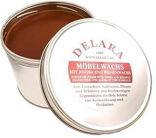 DELARA Sehr hochwertige Möbelpflege mit Jojoba und Bienenwachs, schützt vor Austrocknung und Oxidation, Farbe: Braun - Made in Germany