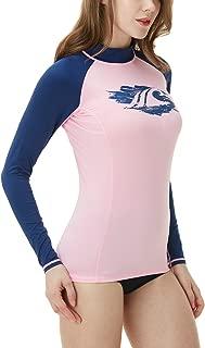 TSLA Women's UPF 50+ Slim-Fit Long Sleeve Athletic Rashguard