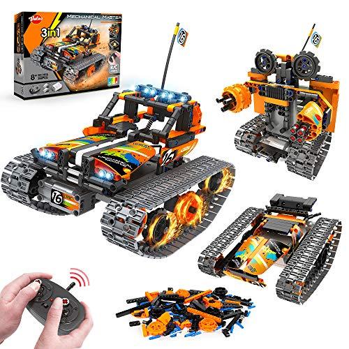 VATOS STEM Fernbedienung Spielzeug - 392 PCS 3 in 1 Techinic Car Stunt Robot | Kreative Steine für Jungen und Mädchen Alter 8 9 10 11 12 Jahre alte Bausteine Bauspielzeug Kinder