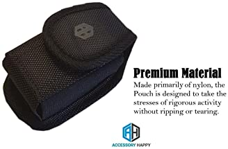 AH Premium Military Grade Canvas Belt Case, Small Rugged Pouch Belt Clip Holster Nylon Metal Clip Flip Phone Belt Cas...