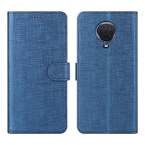 DDJ Schutzhülle für Nokia G20, Brieftasche, Klapphülle, Leder, 360 Grad Schutz, kompatibel mit Nokia G20 (Nokia G20, Blau)