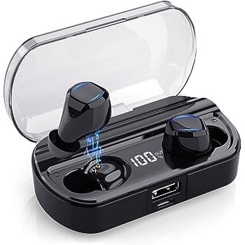 LCluckyml Écouteurs Bluetooth 5.0 Oreillettes Bluetooth sans
